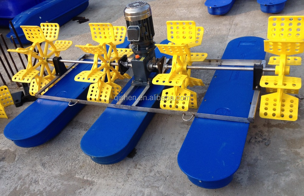 Paddle Wheel Aerator in shrimp farm