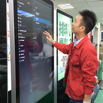 43inch Good price digital signage display stands totem for advertising