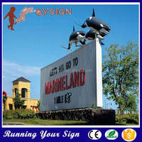 Widely use outside Galvanized sheet letter sign board