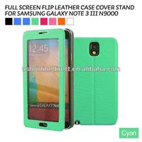 smart view leather case for samsung galaxy note 3 N9000 PU leather flip case