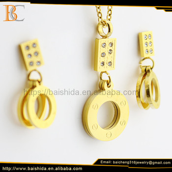 OEM Factory China Lastest Fashion Imitate Surgical Stainless Steel Jewelry