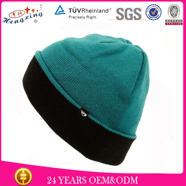 Fold up whole sale design custom beanie cap knitting machine