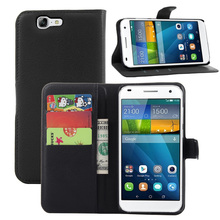 Litchi PU Card Holder Wallet Flip Leather Case For Huawei Ascend G7