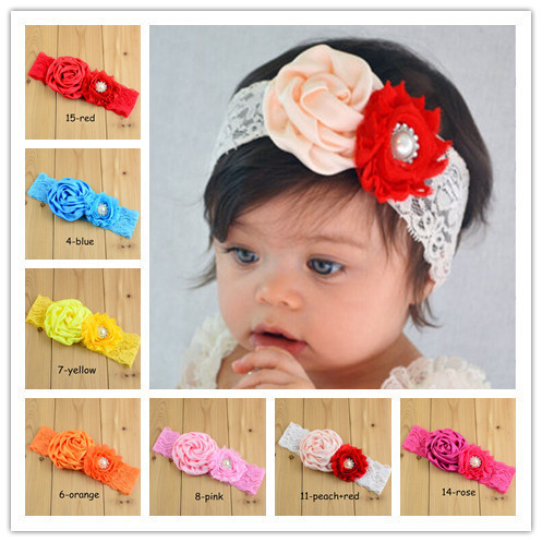 4th of July Baby Turban Headband for Girl Hair Accessories Metallic Messy Bow Baby Head wraps Big Bow Baby Headbands