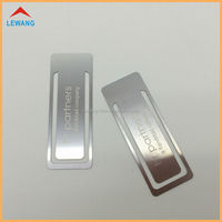 Custom Regular Rectangle Wiredrawing Double-sides Metal Bookmarks with Free Laser Engraving Logo
