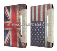 UK & US Flag Floral Printed Retro Vintage Hard Case Cover For ipad air apple tablet 5