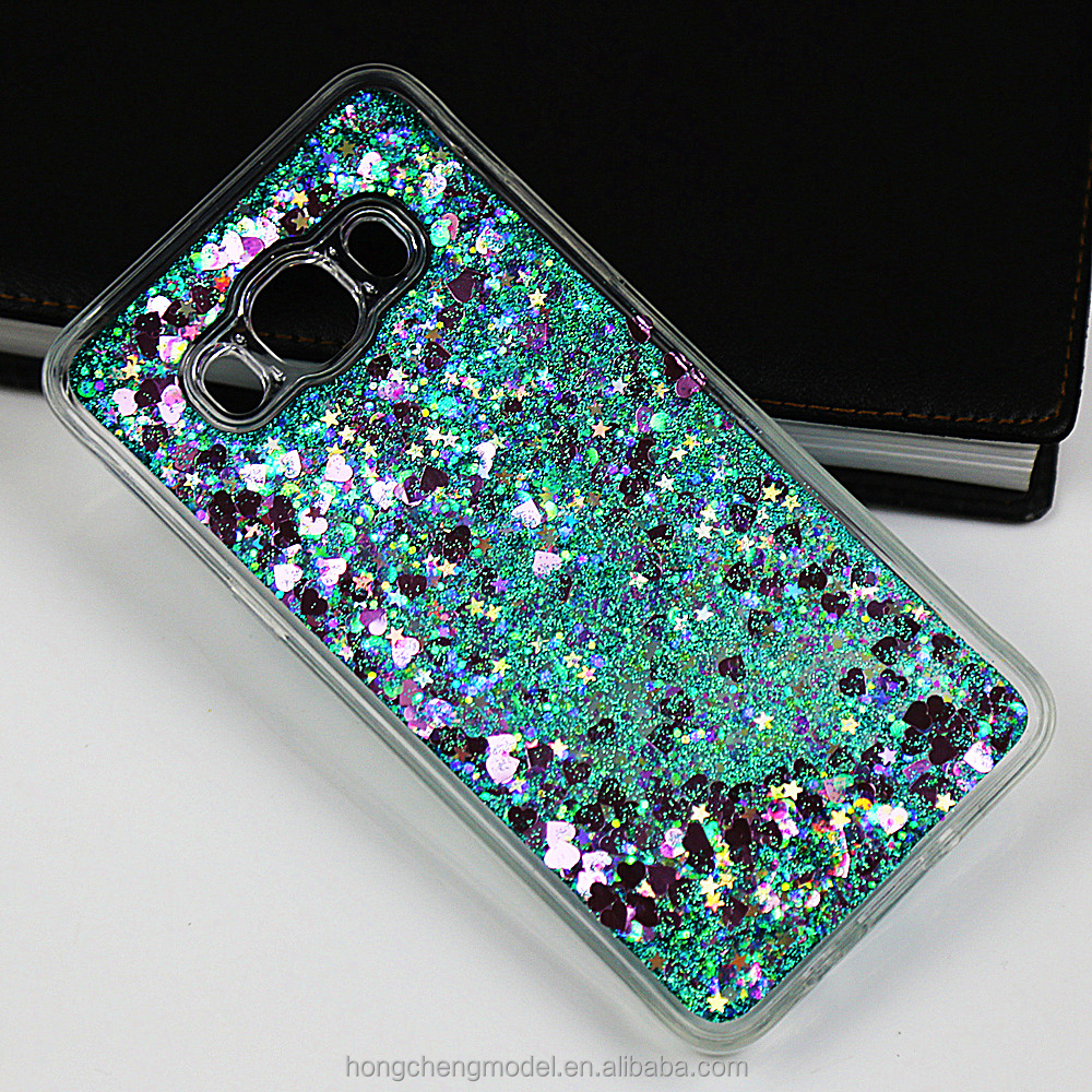 Colorful Moving Glitter Quicksand Loving Heart Phone Case Compatible For Sony Xperia Z5 Mini