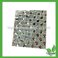 Clear Glue Base, Crystal Material Hotfix Adhesive Rhinestone Sheets For Garment and Shoes