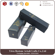 Magnet closure luxury design black folding paper wine shipping box