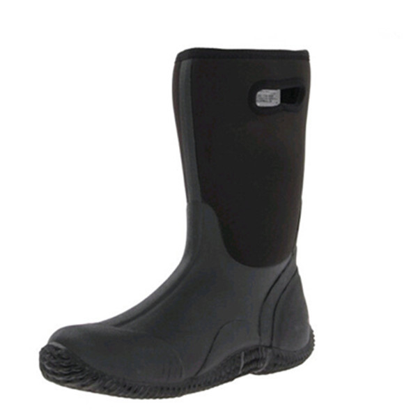 Men's 4mm Neoprene boots muck rubber boots