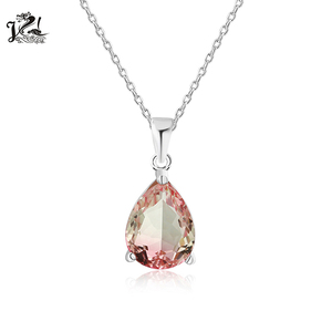 Hot sale 925 sterling silver tear drop multi color gemstone jewelry pendants for necklace