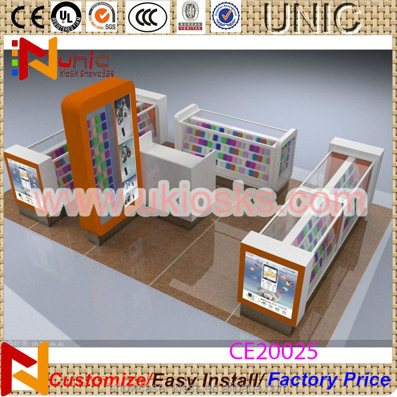 Mobile phone shop design with 10 x 10 feet july style kiosk