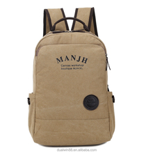 The new wind han edition bag wet canvas bag for men and women college students backpack backpack male leisure laptop bag