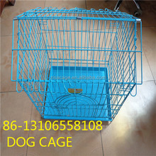 cheap price small dog foldable dog crate house cage with wheel skype yolandaking666