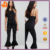 OEM black fashion jumpsuit,high quality crepe polyester elegant jumpsuits for women