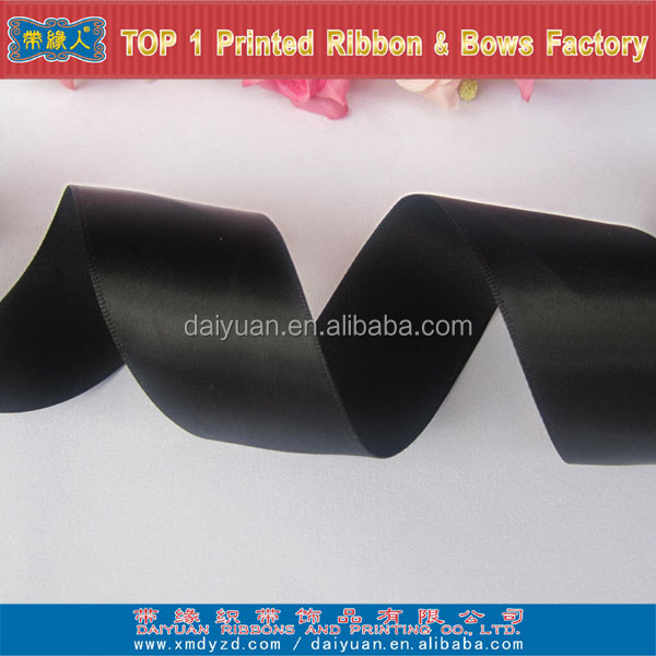 Black satin discount ribbon for decoration and garment accessories