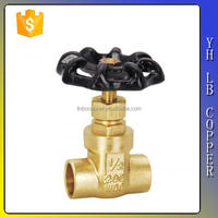 LINBO-C931operated copper ms58 pn16 forged brass water meter class 900 800 extended body screw bonnet double gate stop valve