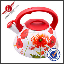 2014 New Style Red Color Whistling Tea Coffee Water Kettle