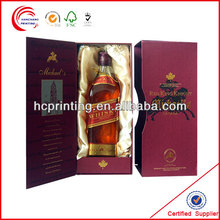 Side sliding lids paper wine packaging boxes for wine promotion
