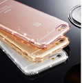 Luxury Bling Rhinestone Diamond Soft TPU Clear Case for iphone 6 6S Back Crystal Transparent Cover Accessories