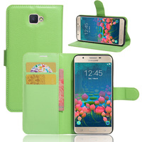 Wallet Credit Card Slot Pu Leather Back Cover For Samsung Galaxy On7 Case