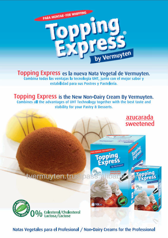 Topping Express Sweetened Whipping Cream Alternative 1L & 10L