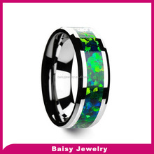 china supplier Fashion tungsten carbide emerald rings