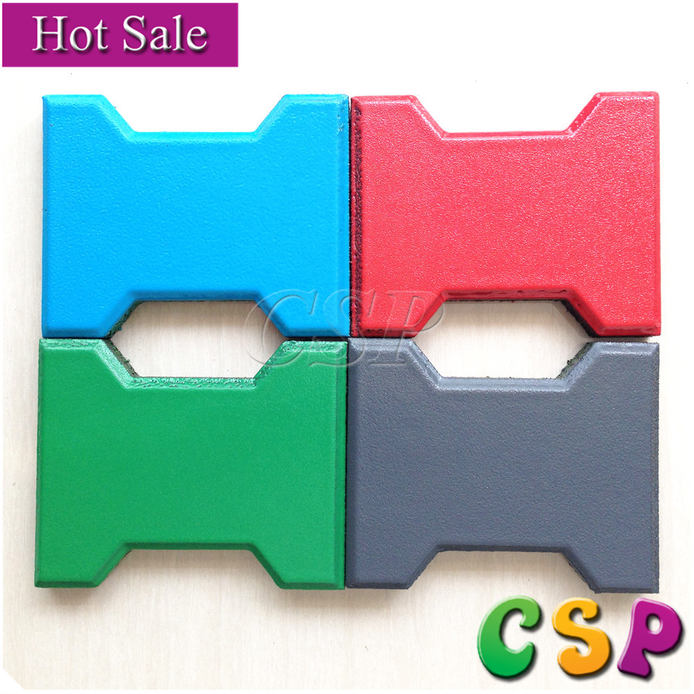 Outdoor Playground Rubber Backing Commercial Carpet Floor Tiles, Gym Rubber Tile