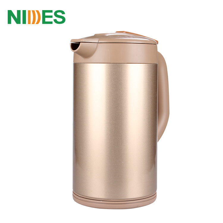 1.8L Stainless Steel Interior Double Wall Cool Touch Cordless Electric Kettle