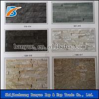 Wall cladding slate,yellow ledgestone veneer panels,natural cultural stone -BanYue