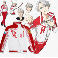 Popular Japanese Anime Yuri On The Ice Victor Cosplay Costumes Zipper Coat Clothing Stock