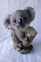 artificial style polyresin material resin koala figurine