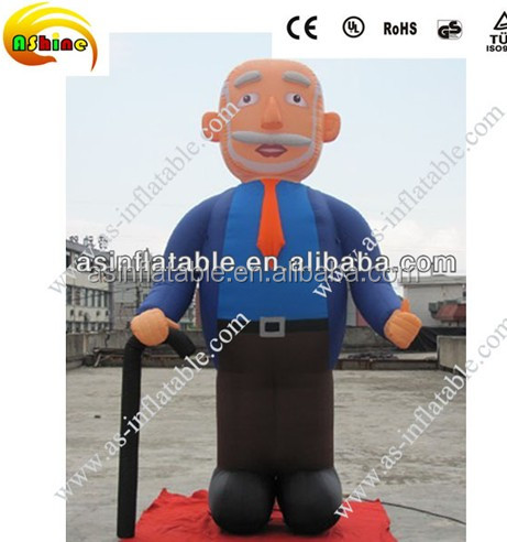 customized advertising inflatable man model old man model