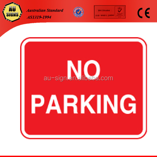 No parking car park signs