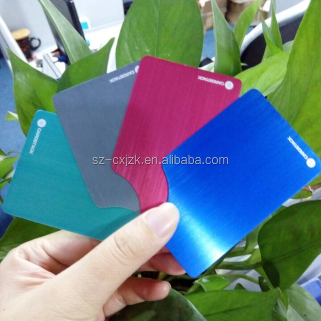 New Color Anodised Blank Sublimation Aluminum metal business card