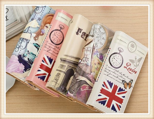 lady PU Leather phone bags female casual coin money Purse