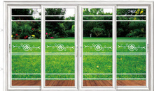 Modern high quality interior french sliding aluminum glass door