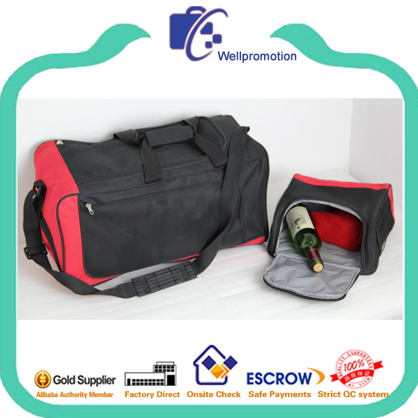wellpromotion travel gym sports bag with detachable cooler