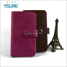 2016 High Quality Weave Pattern PU Leather case Universal for iPhone