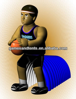new design basketball team mascot inflatable tunnel F9006