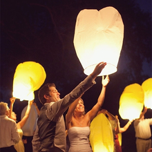 Biodegradable White Chinese Flying Sky Wishing Lanterns