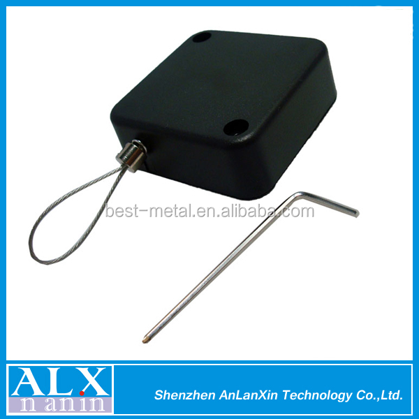 Retail Security Tether/ anti-theft pull box cable retractor