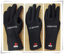 2.5mm waterproof diving gloves in ultra stretch material