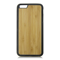 For iphone 6 plus plastic bamboo wood case,plastic bamboo wood case for iphone,plastic bamboo wood case