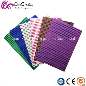 2mm sequins eva foam sheets with various colors