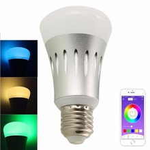 Wifi LED Light Bulb, Smart Light Bulb Works with Alexa No Hub Required Dimmable White RGB Color