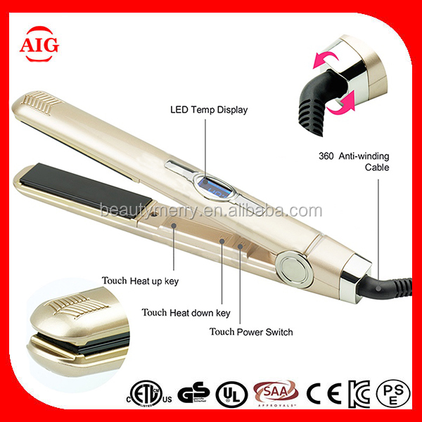 Sensor touch control Ceramic Electric hair flat iron,name brand flat iron hair straightener wet to dry hair straightening iron