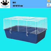 Welded wire mesh plastic rabbit cage