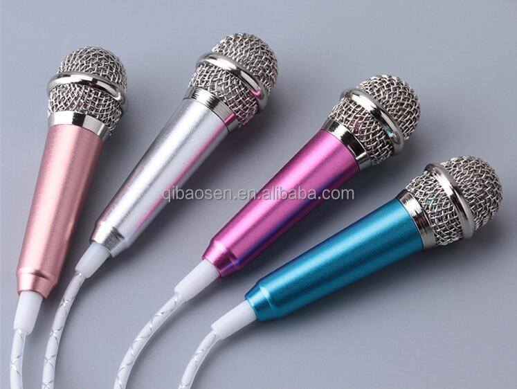 Smart Mini Portable Handheld Wired Condenser Microphone For Desktop PC Singing