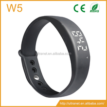 W5P W5 Multifunctional USB LED Smart Bracelet 3D Pedometer&Sleep Monitor&Calorie Counter Black